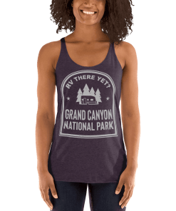 RV There Yet? Grand Canyon National Park Racerback Tank (Women's) Vintage Purple