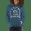 RV There Yet? Arches National Park Hooded Sweatshirt (Unisex) Indigo Blue
