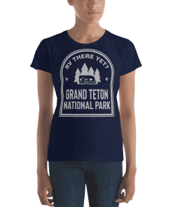 RV There Yet? Grand Teton National Park T-Shirt (Women's) Navy