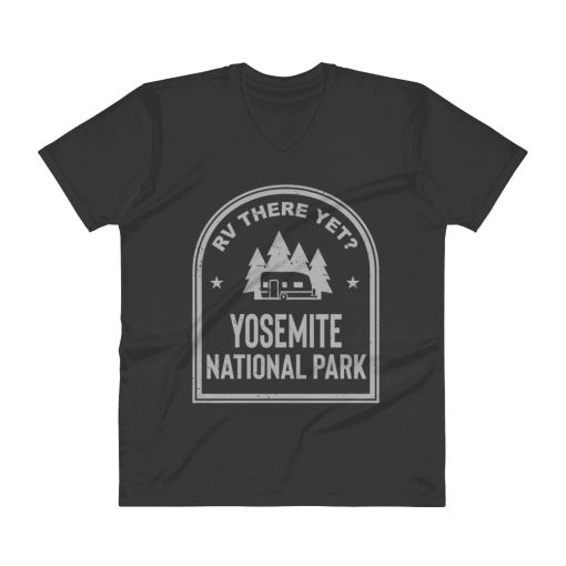 RV There Yet? Yosemite National Park V-Neck (Men's) Black