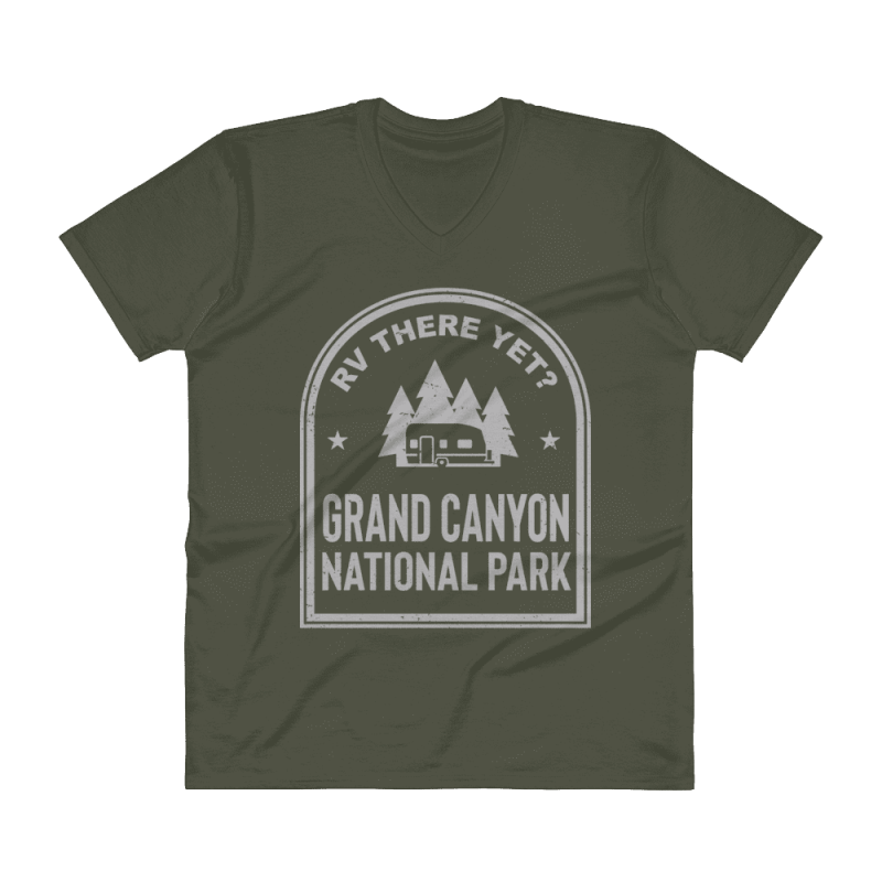 RV There Yet? Grand Canyon National Park V-Neck (Men's) City Green