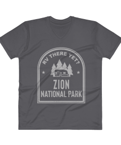 RV There Yet? Zion National Park V-Neck (Men's) Charcoal