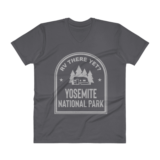 RV There Yet? Yosemite National Park V-Neck (Men's) Charcoal