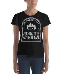RV There Yet? Joshua Tree National Park T-Shirt (Women's) Black
