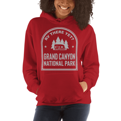 RV There Yet? Grand Canyon National Park Hooded Sweatshirt (Unisex) Red
