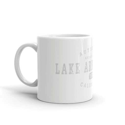 Authentic Lake Arrowhead Camp Mug 11oz Handle Left