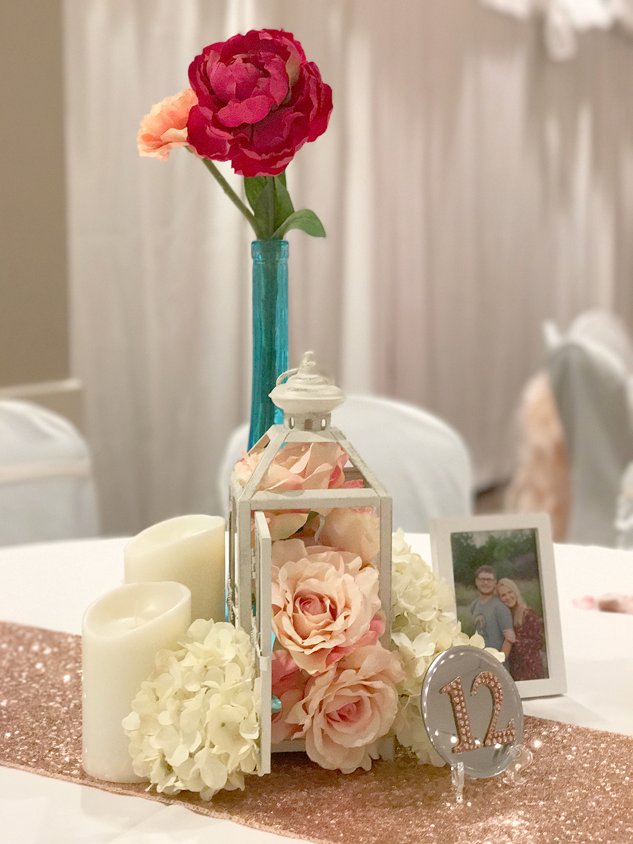 Blush Pink Bright Pink Teal And All The Decorations Of
