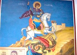 St George slays a dragon