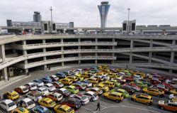 Cab Staging Area, San Francisco Int'l Airport