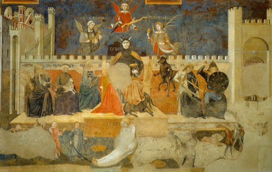 Ambrogio Lorenzetti's The Allegory of Bad Government, fresco, Sala Dei Nove, Siena, 1338-39
