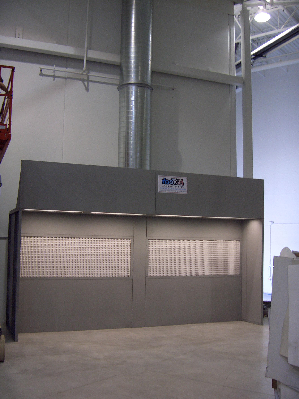 open face spray booth hi tech air systems