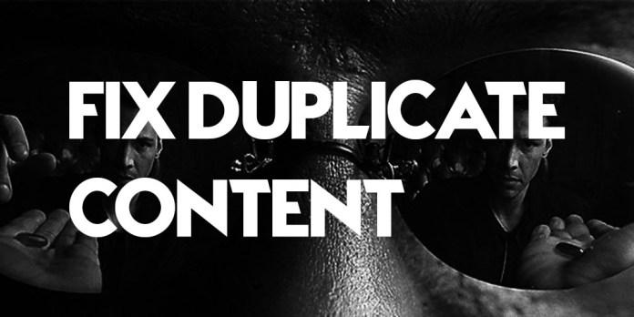 Fix Duplicate Content
