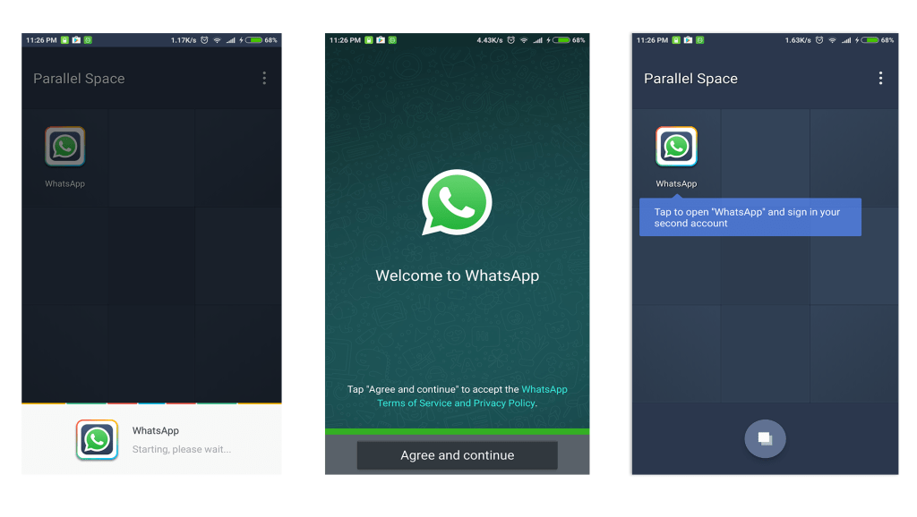 how to use two whatsapp accounts in single phone