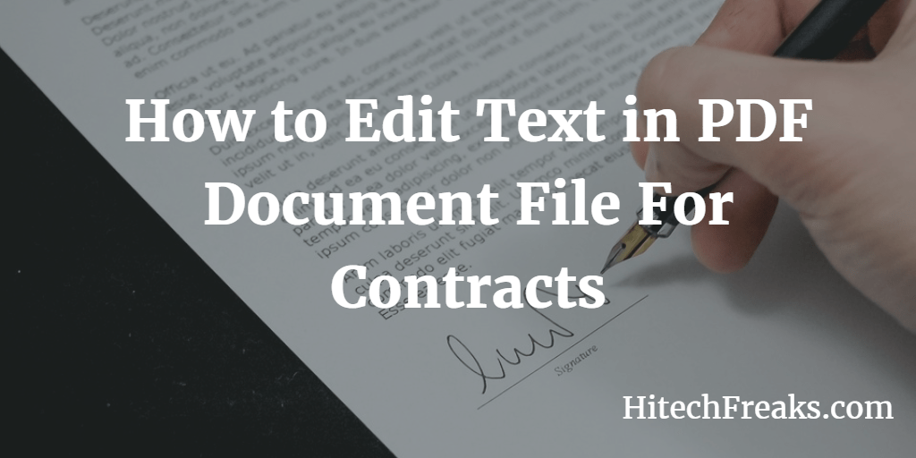 How to Edit Text in PDF Document File For Contracts