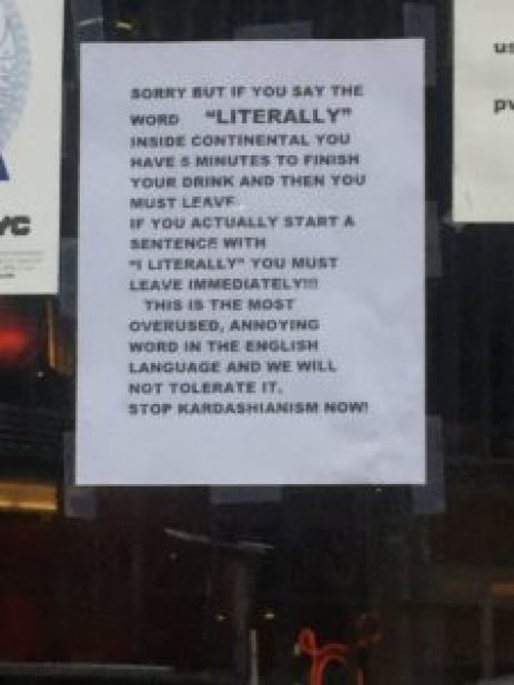 Continental East Village Bar will Throw you Out If you use this Common English word 2