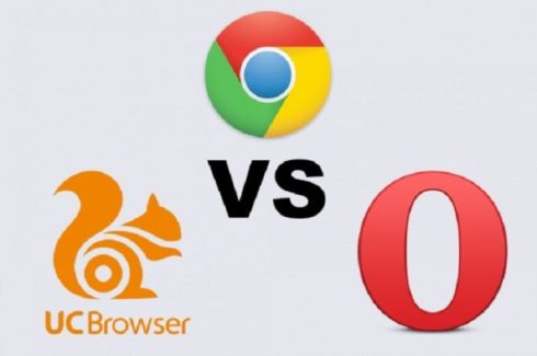 UC Bowser vs Google Chrome Vs Opera Mini 1