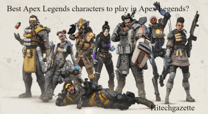 selection of players in Apex Legends