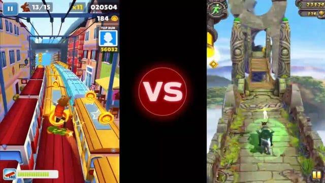 temple run 2 vs subway surfers