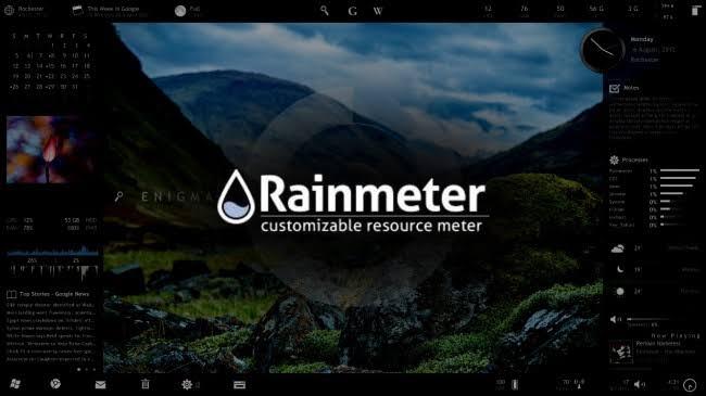 Rainmeter skin