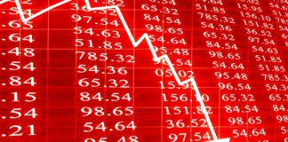 Share prices decline