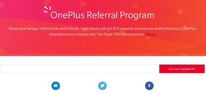 OnePlus referral program Announcement