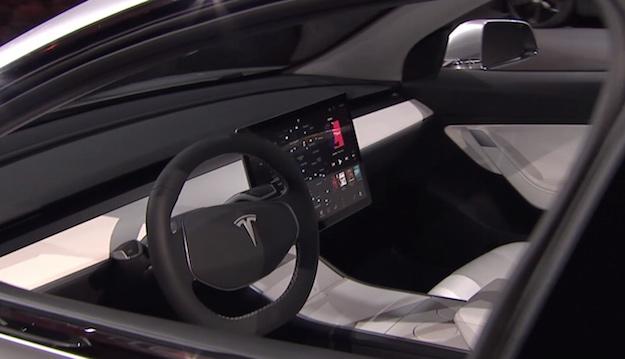 Tesla Model 3 Leaked Interior Images