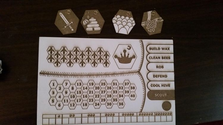New Player Board pieces for Bee Lives