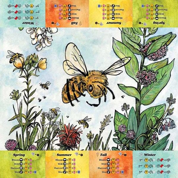 The image printed on the player mat for Bee Lives We Will Only Know Summer