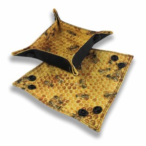 Collapsible Bit Trays Bee Fabric Inside
