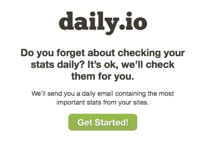 daily dot io landing page