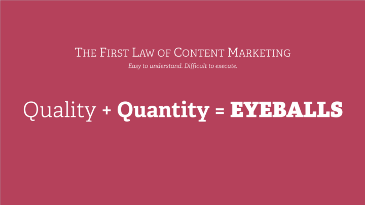 the first law of content marketing