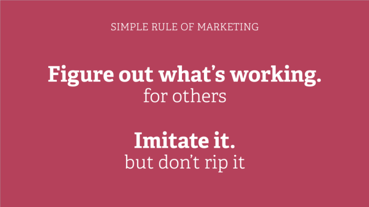 Simple rule of marketing