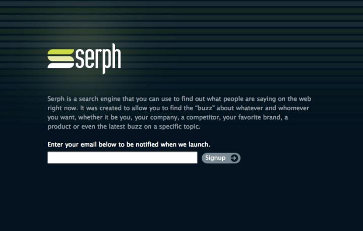 Serph landing page