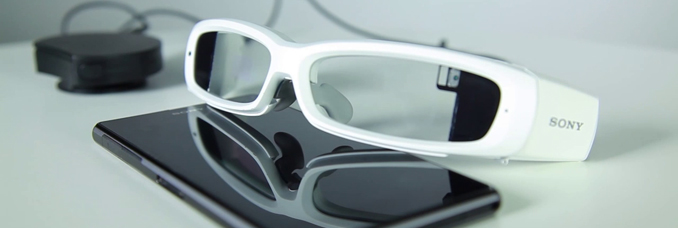 SONY unveils connected glasses