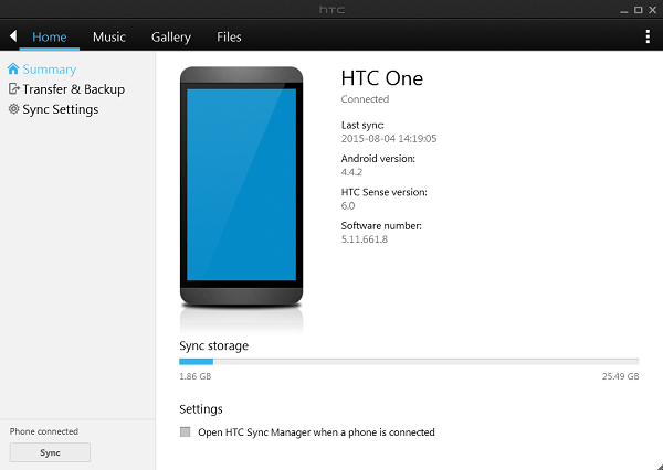 HTC Sync Manager Free Download Latest Version