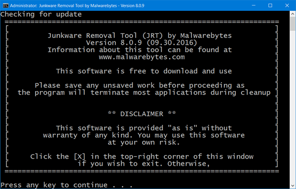 Junkware Removal Tool Free Download JRT
