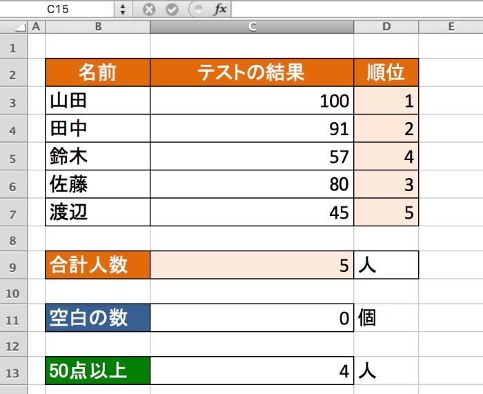 Excel関数 関数 COUNTIF関数3