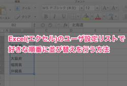 Excel エクセル ユーザー設定リスト 並び順00