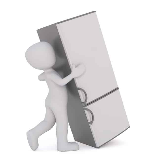 冷蔵庫を運ぶ
