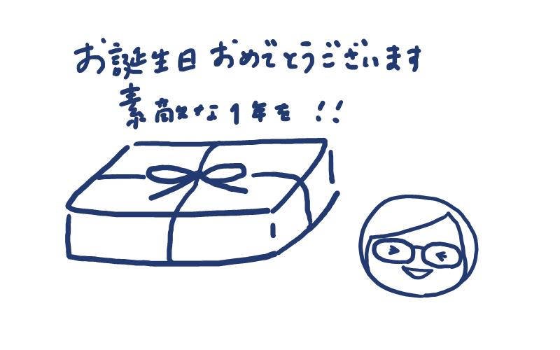 お誕生日おめでとうございます 素敵な1年を!