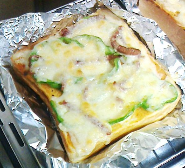 ピザトーストの作り方④