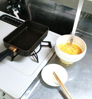 しょっぱい卵焼きの作り方②