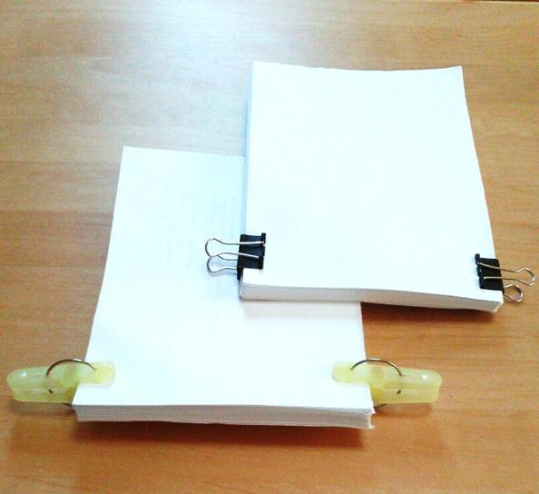 裏紙メモ帳の作り方②