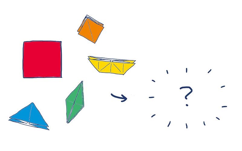折り紙、楽しい!