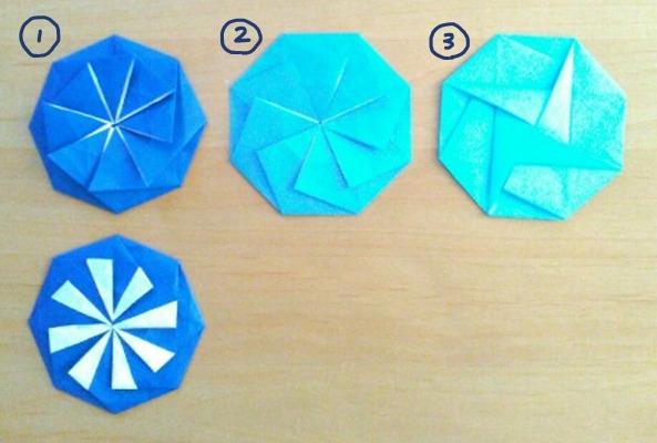 普通サイズの折り紙で作るポチ袋 八角形