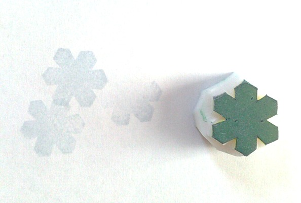 霜始降イメージの消しゴムはんこ