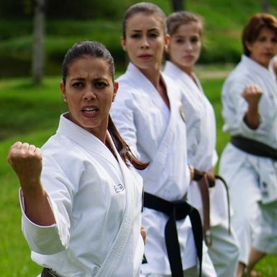 Parte da equipe feminina