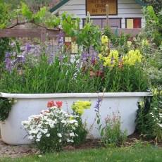 Хитрини за градината! Кашпа- уникат от старата вана