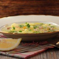 Млечна супа със свинско месо