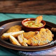 Панирано пилешко филе със семки